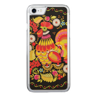 Ornate Rooster Carved iPhone 7 Case