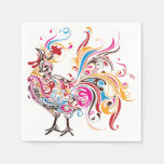 Ornate Rooster Disposable Napkin
