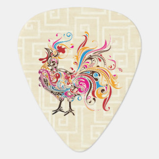 Ornate Rooster Guitar Pick