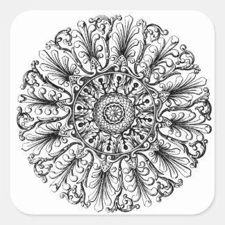 Ornate Rosette Victorian Design Sticker
