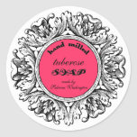 Ornate Round Frame Hand Milled Soap Label Classic Round Sticker
