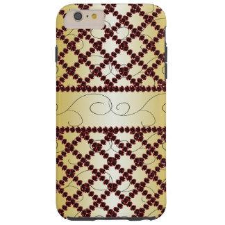 Ornate Ruby Trellis Goth Princess CricketDiane Tough iPhone 6 Plus Case