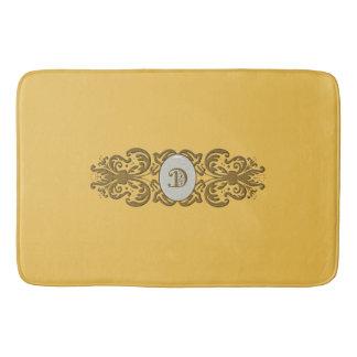 Ornate Scroll, Initial Letter D-Large Bath Mat Bath Mats