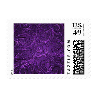 Ornate Seal, Purple Postage