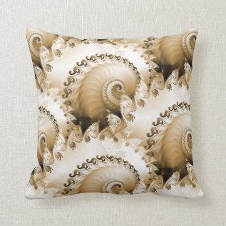 Ornate Seashells Mojo Pillow at Zazzle