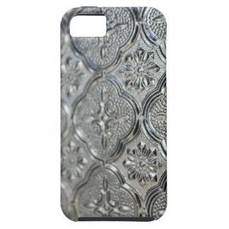 Ornate Silver Glass Design iPhone SE/5/5s Case