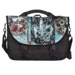 Ornate skull collage bag for laptop