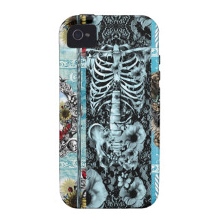 Ornate skull collage iPhone 4 covers