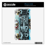 Ornate skull collage decals for the iPhone 4