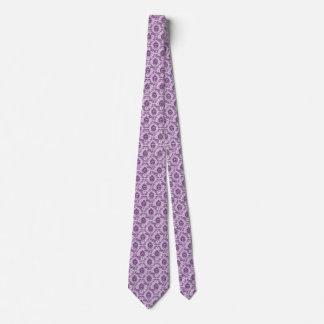 Ornate sloth tie - purple