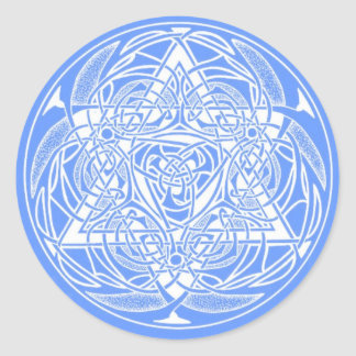 Ornate Star of David Classic Round Sticker