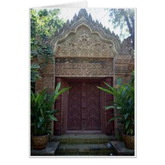 Ornate Stone Doorway Card