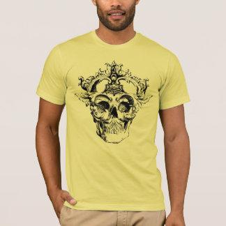 Ornate style graphic design skull men's t-shirt