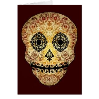 Ornate Sugar Skull Card