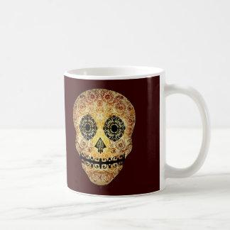 Ornate Sugar Skull Classic White Coffee Mug