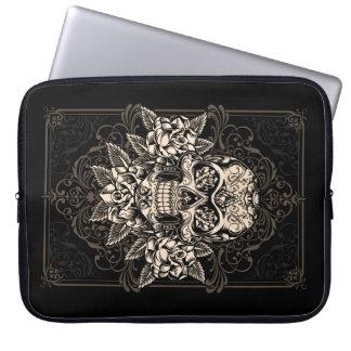 Ornate Sugar Skull Laptop Sleeve