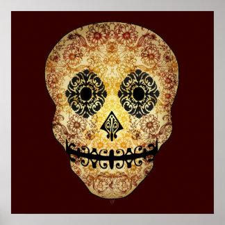 Ornate Sugar Skull Print