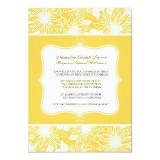 Ornate Sunflowers Wedding Invitation (lemon)