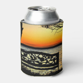 Ornate Sunset Can Cooler