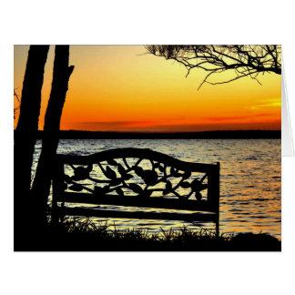 Ornate Sunset Card