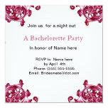 Ornate swirl Bachelorette party invitation