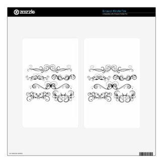 Ornate Swirls design Kindle Fire Decal