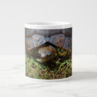 Ornate Turtle top view saturated.jpg Large Coffee Mug