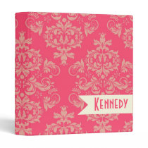 Ornate Victorian Damask Pattern Custom Binder