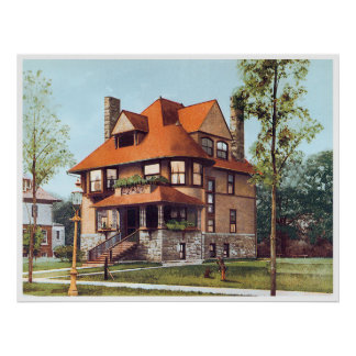 Victorian House Posters Zazzle