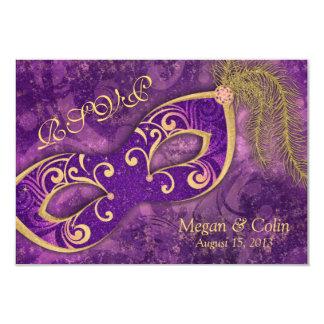 Ornate Victorian Masquerade Ball Wedding RSVP Card