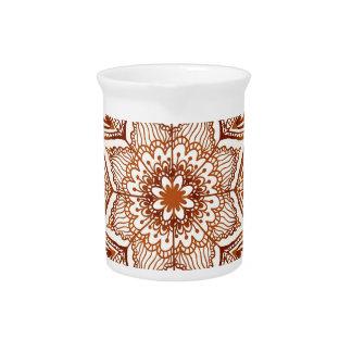 Ornate vintage beige pattern drink pitchers