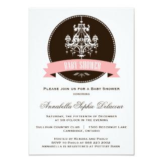 Ornate Vintage Chandelier Baby Shower Invitation
