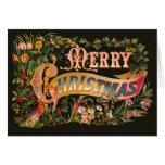 Ornate Vintage Christmas Greeting Card
