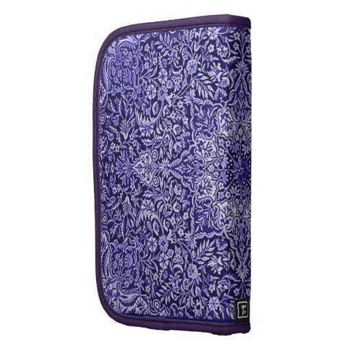 Ornate Vintage Tapestry Batik in Purple Folio Planners