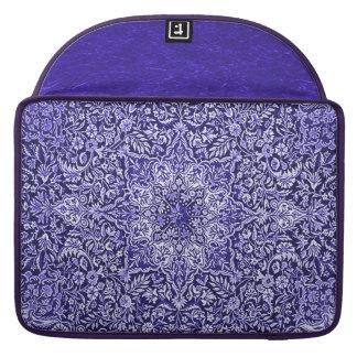 Ornate Vintage Tapestry Batik Purple Sleeves For MacBook Pro