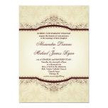 """Ornate Vintage Wedding Invitations 5"""" X 7"""" Invitation Card"""