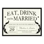 "ORNATE VINTAGE WEDDING | SAVE THE DATE 5"" X 7"" INVITATION CARD"
