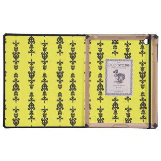 ornate wallpaper pattern black and heel iPad covers