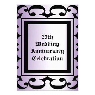 Ornate Wedding Anniversary Invitation