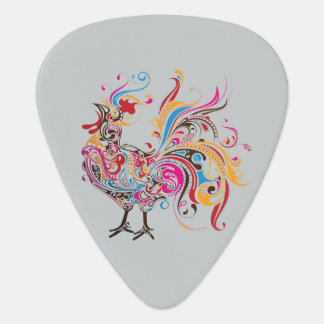 Ornate Wild Rooster Guitar Pick