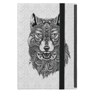 Ornate Wolf Head Ornate Illustration Case For iPad Mini