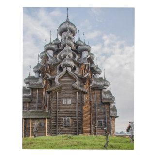 Ornate wooden church, Russia Panel Wall Art