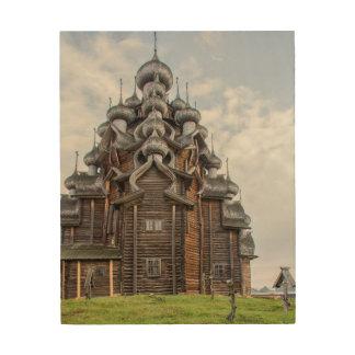 Ornate wooden church, Russia Wood Print