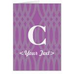 Ornate Woven Monogram - Letter C Greeting Card