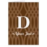 Ornate Woven Monogram - Letter D Card