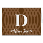 Ornate Woven Monogram - Letter D Greeting Card
