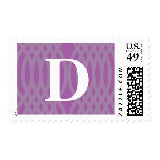 Ornate Woven Monogram - Letter D Postage Stamps