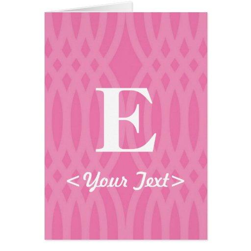 Ornate Woven Monogram - Letter E Card