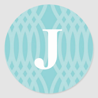Ornate Woven Monogram - Letter J Classic Round Sticker