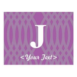 Ornate Woven Monogram - Letter J Post Card